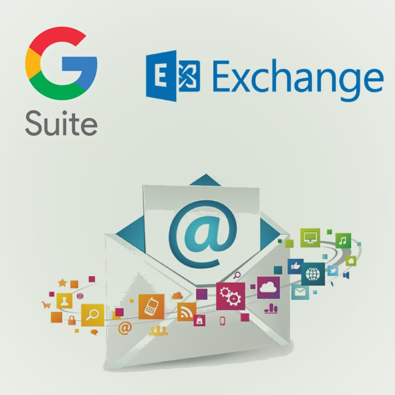 Messagerie collaborative, gsuite et microsoft exchange